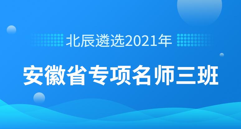 2021年安徽省专项名师三班